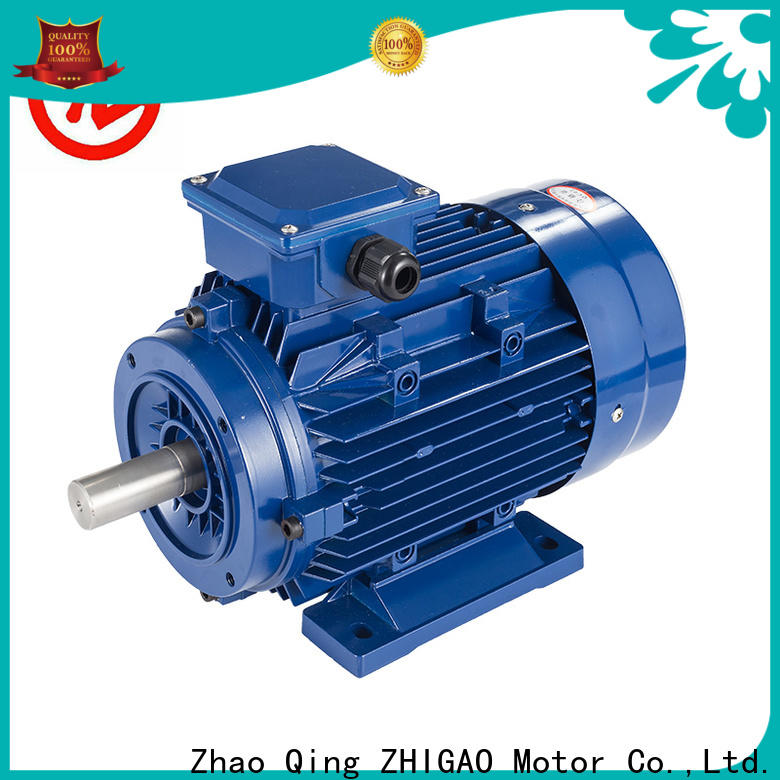 ZHIGAO series ac electric motor parts supply for metal cutting machine